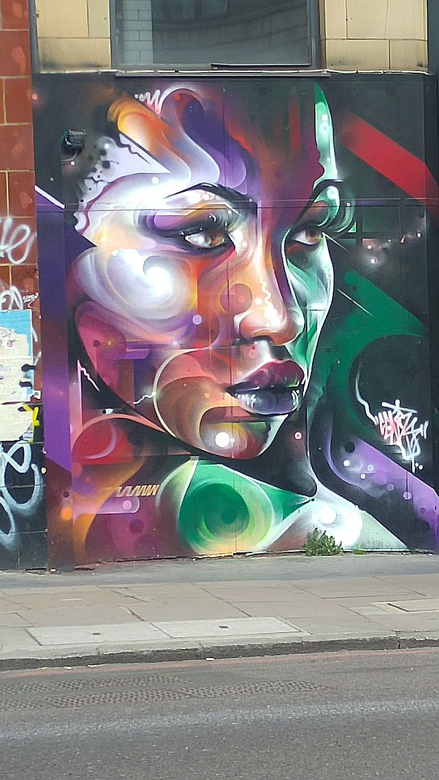 One piece by Mr Cenz, whose work is frequently seen in the neighbourhood