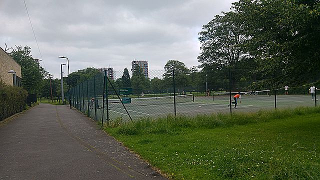 Tennis courts at the Bodney Street entrance
