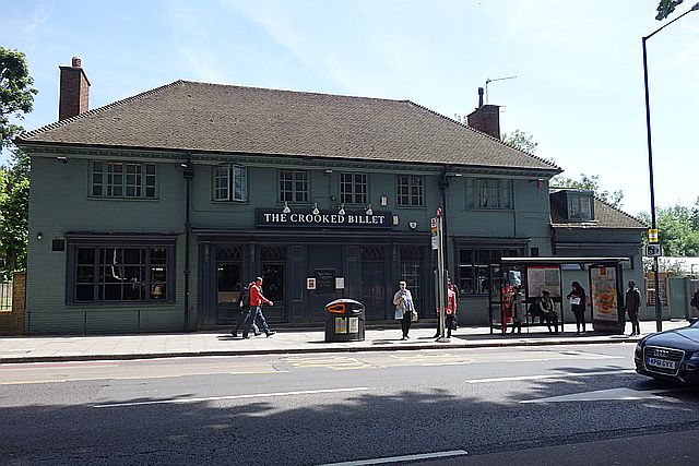 The Crooked Billet Pub, Upper Clapton Road