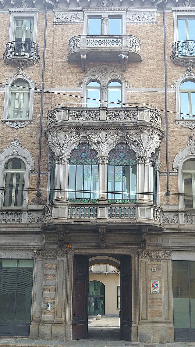 Someone opened the front door of this magnificent building
