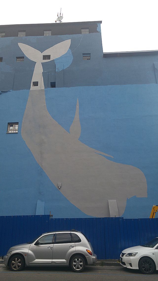 The outline for the whale
